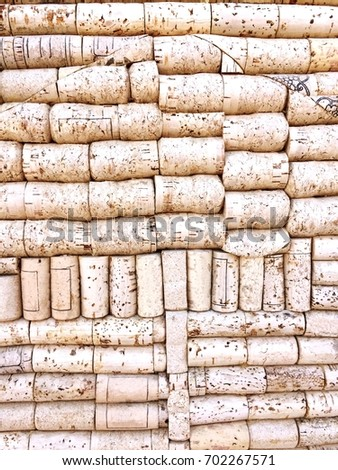 Cork stoppers Background - Texture (Pesaro, Italy)