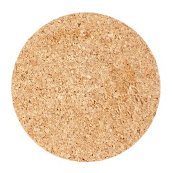 Cork table coaster isolated on white