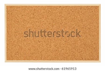 Corkboard (bulletin board) isolated on white