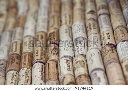 Corks of wine bottles Stockfoto ©