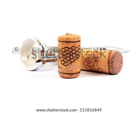 Corkscrew and corks