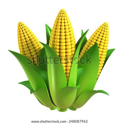 corn 3d illustration #248087962