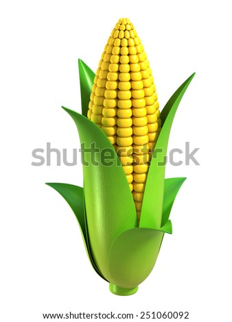 corn 3d illustration #251060092