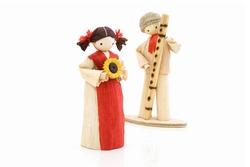 corn dolls, isolated on white background