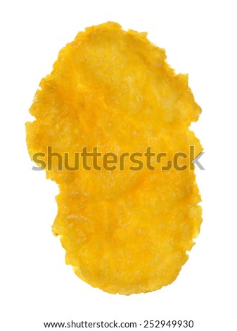 Corn flakes isolated on white background - Shutterstock ID 252949930