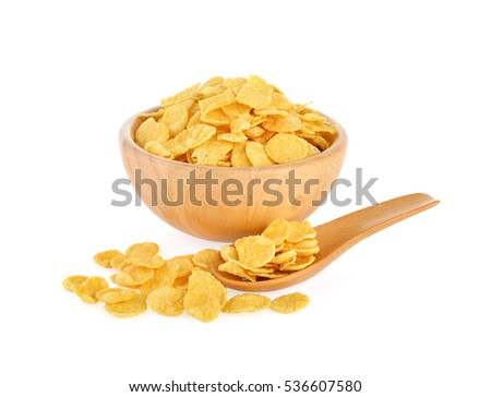 Corn flakes on a white background #536607580