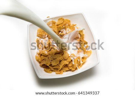 corn flakes with milk #641349337