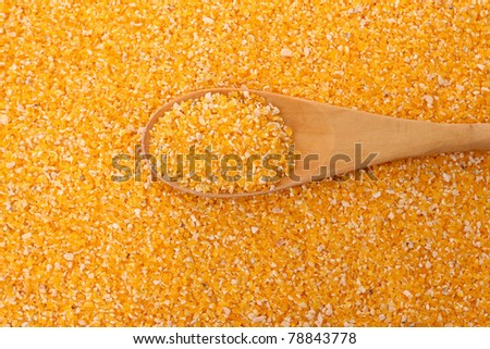corn grits and spoon