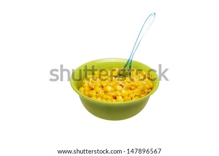 corn in cup isolated