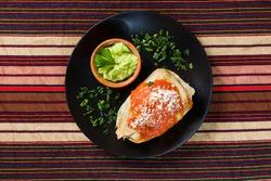 Corn made Chuchitos Tamalitos and guacamole from Guatemala Cuisine