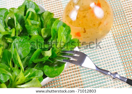 Corn salad with herb dressing.