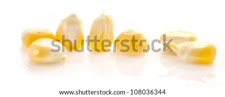corn seeds isolated on white background