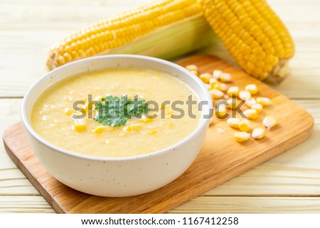 corn soup bowl - healthy food style