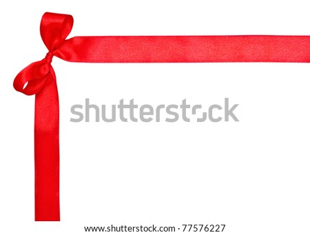 Corner for text, ribbon and bow