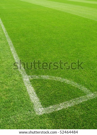Corner of a soccer field