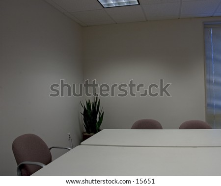 Corner of an empty conference room