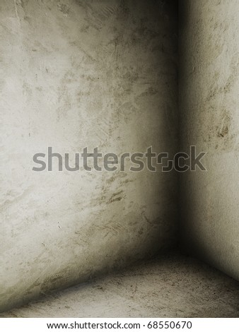 corner of old dirty room - stock photo