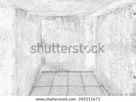 corner of old dirty room, grunge  gray walls