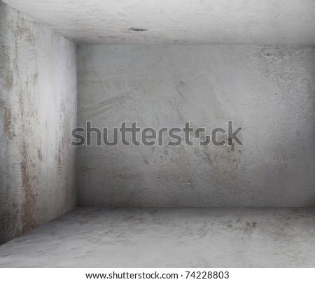 corner of old dirty room, grunge walls