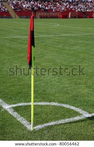 Corner of soccer pitch detail