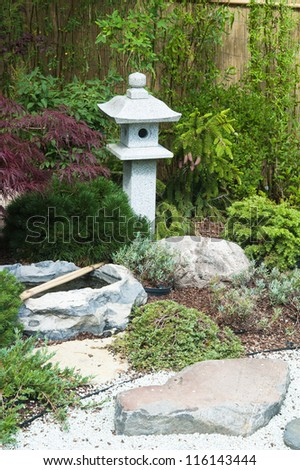 corner of the garden in Japanese style