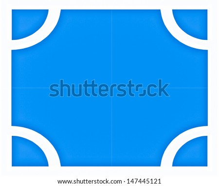 Corner on rubber floor of soccer