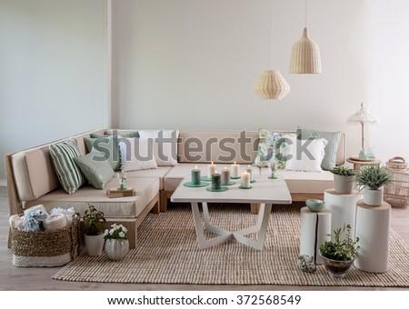corner sofa interior pillow style