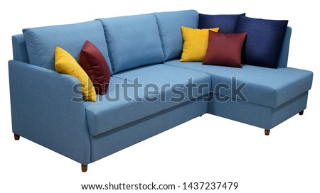 Corner sofa isolated on white background. Including clipping path #1437237479