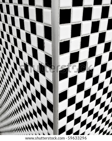 Corner View Of Black And White Ceramic Tiles Stock Photo 59633296 ...