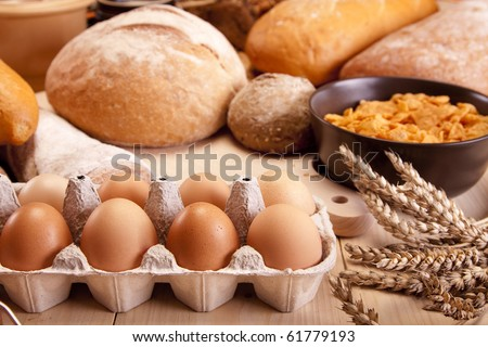 Cornflakes breakfast - stock photo