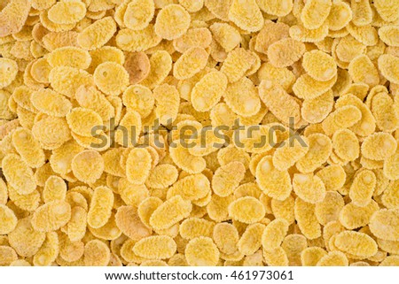 Cornflakes close-up. Cereals for use as background image or as texture #461973061