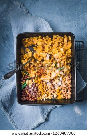 Cornflakes Mixture - Cornflakes Chivda in a Baking Sheet #1263489988