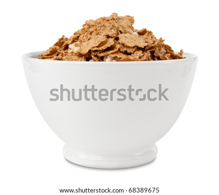 Cornflakes whole grain in bowl