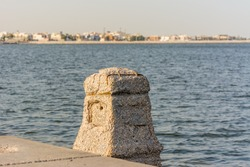 Corniche coastal park with background of sea in Dammam, Kingdom of Saudi Arabia