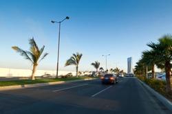Corniche Shore Street at The Red Sea in Jeddah, Saudi Arabia