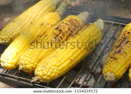 Corns. BBQ. Buttered corns. Grilled corns. #1554259172
