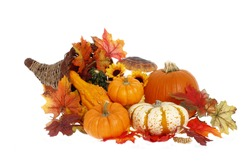 Cornucopia Thanksgiving Decoration