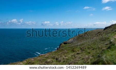 Cornwall rocky cove coastline England #1452269489
