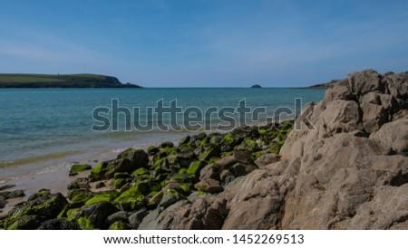 Cornwall rocky cove coastline England #1452269513