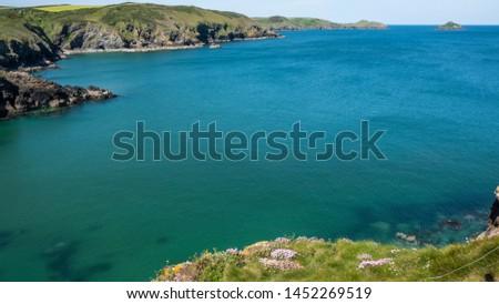 Cornwall rocky cove coastline England #1452269519