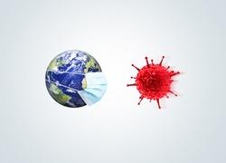 Corona virus concept. Coronavirus New Cases Increase Globally. COVID-19 outbreak on whole world concept.