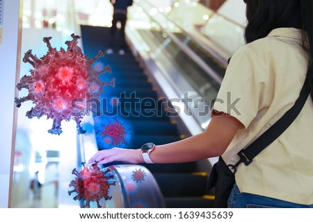 Corona virus 2019,the most transmission of virus or bacterai from hand touch concept for background healthcare and medical ,washing hand