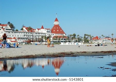 Coronado Hotel and beach, San Diego metro area