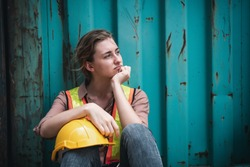 Coronavirus Covid-19 Epidemic Impact Unemployed of Labor, Woman Worker Feeling Hopeless after Her Company Lay-Off From Covid19 Crisis. Business Downturn From Coronavirus Situation and Unemployment