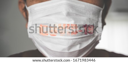 coronavirus covid 19 infected patient, man wearing mask and cough with Covid-19 virus outbreak in India. concept of Corona virus quarantine,Covid-19