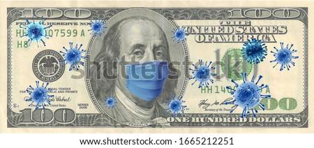Coronavirus (COVID-19) Quarantine Dolar Economy Money Zdjęcia stock ©