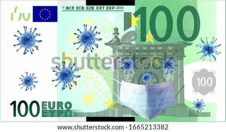 Coronavirus (COVID-19) Quarantine Economy Euro Europa Stok fotoğraf ©