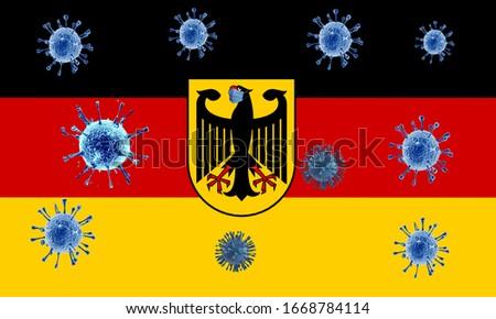 Coronavirus (COVID-19) Quarantine in Germany Stok fotoğraf ©