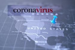 Coronavirus in USA. The text