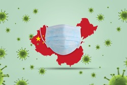 Coronavirus public health risk disease and flu outbreak on china or coronaviruses influenza background as dangerous. Coronavirus helath crisis concept.